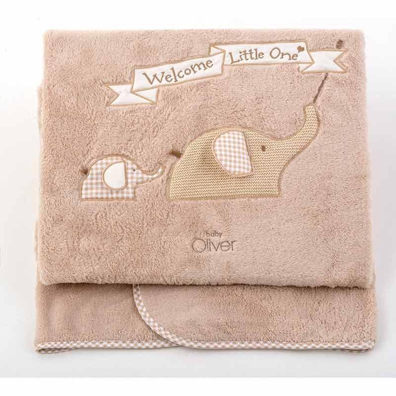 Κουβέρτα Αγκαλιάς Coral Fleece Baby Oliver Welcome Little One Design 302