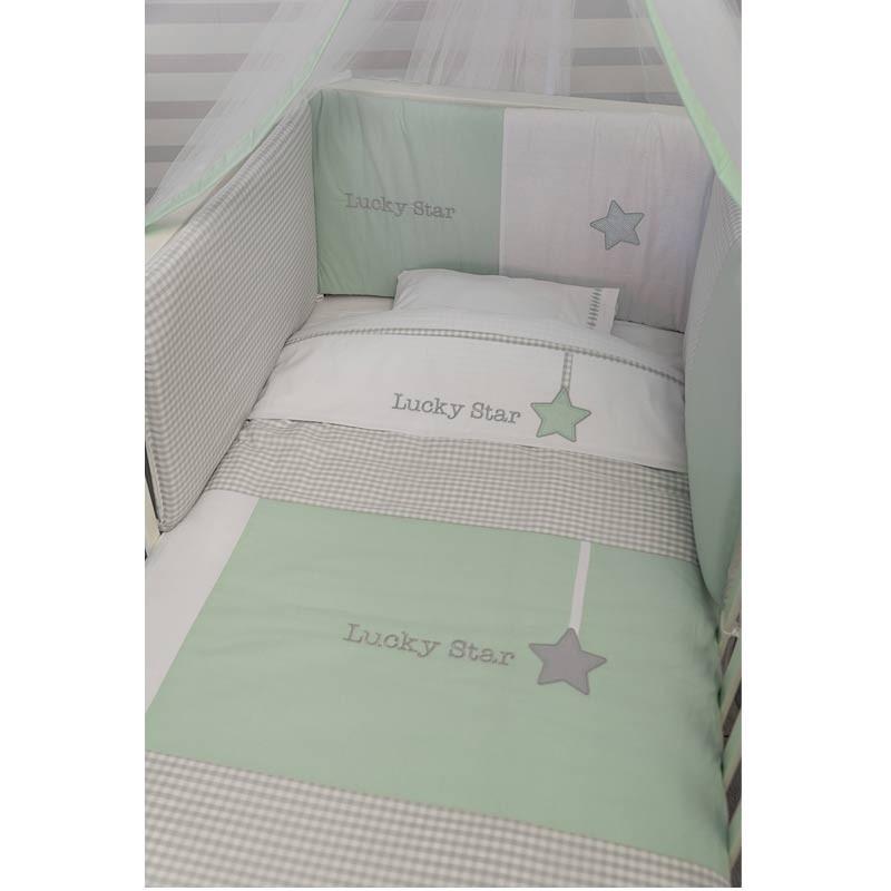 Σετ σεντόνια κούνιας βρεφικά Baby Oliver Lucky Star Design 304