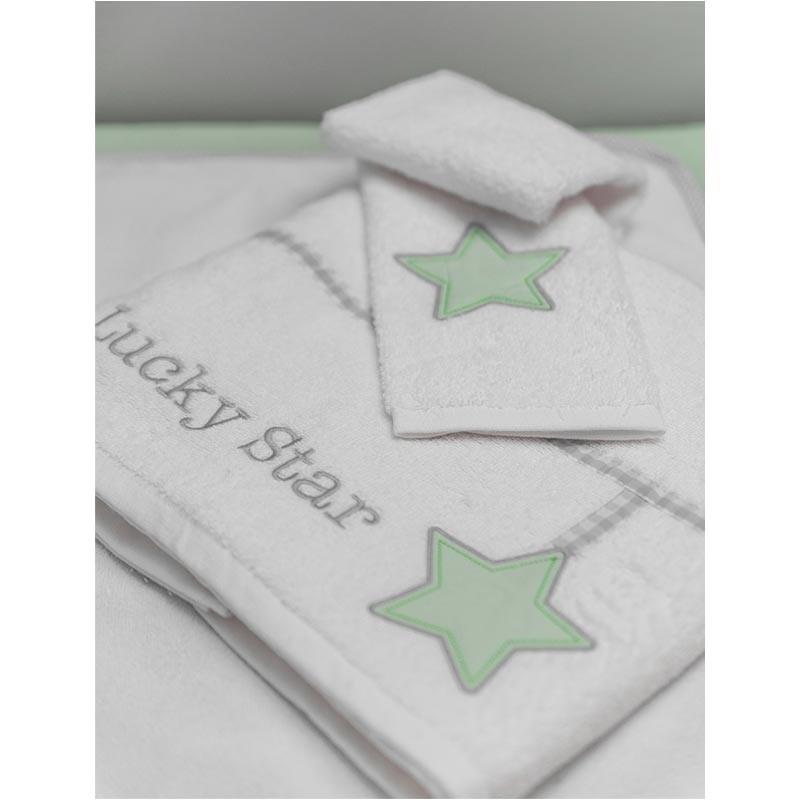 Σετ πετσέτες Βρεφικές Baby Oliver My Lucky Star Design 304
