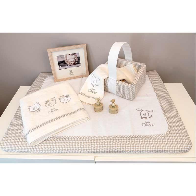 Βρεφική Αλλαξιέρας με σελτεδάκι Baby Oliver Mr Wolf and Co Design 305