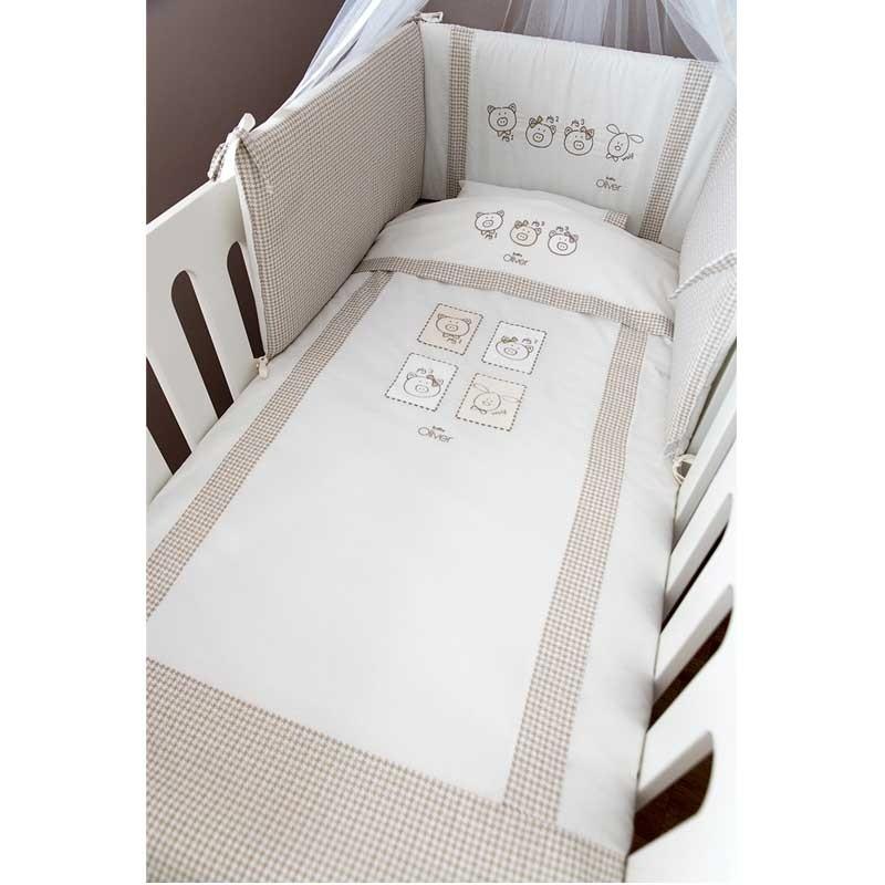 Σετ σεντόνια κούνιας βρεφικά Baby Oliver Mr Wolf and Co Design 305