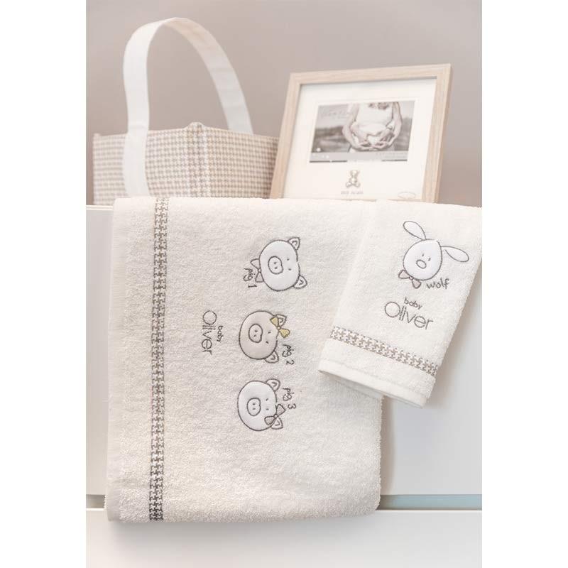 Σετ πετσέτες Βρεφικές Baby Oliver Mr Wolf and Co Design 305