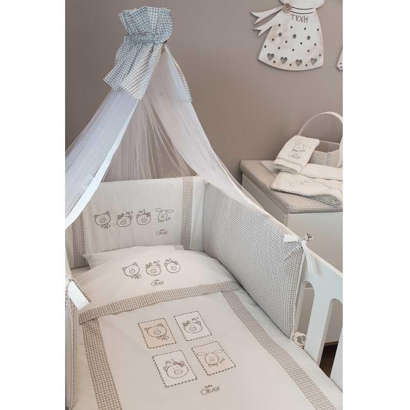 Κουβέρτα Κούνιας Coral Fleece Baby Oliver Mr Wolf and Co Design 305