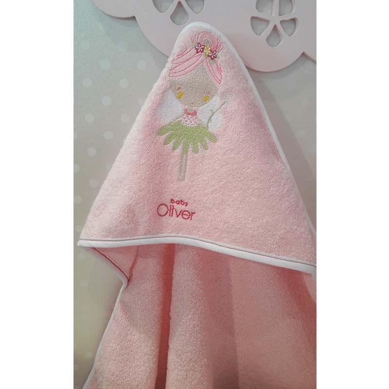 Βρεφική Κάπα Μπουρνουζάκι Baby Oliver Fairy Dance Design 307