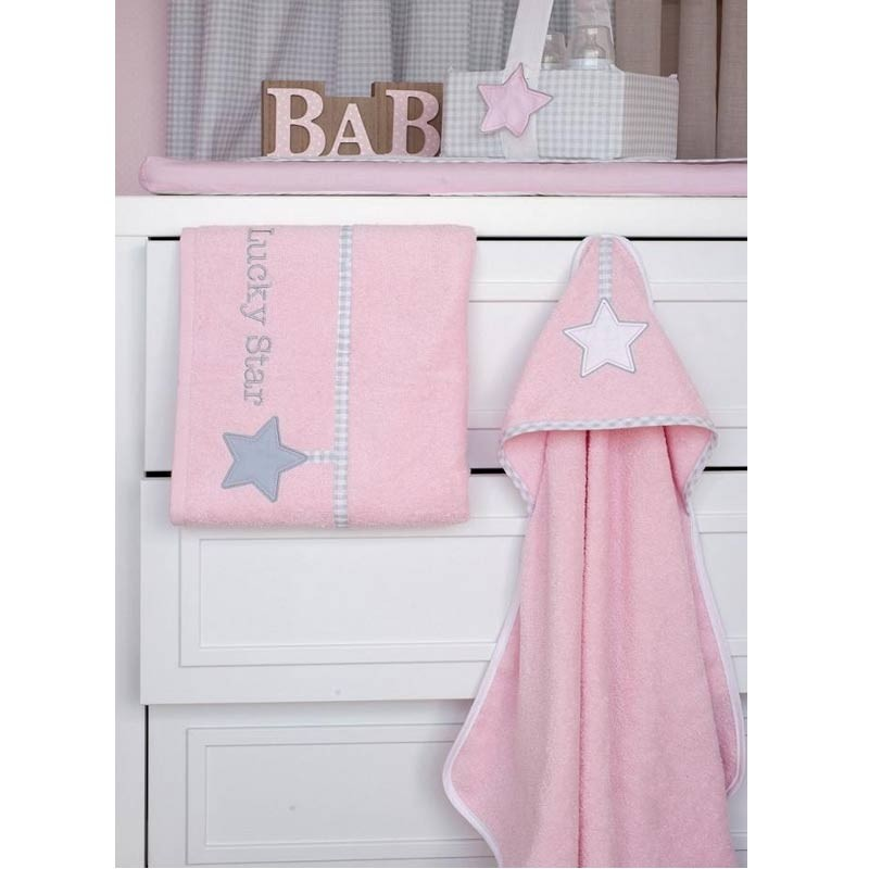 dd66ee26c53 Σετ πετσέτες Βρεφικές Baby Oliver Lucky Star Pink Design 308 46-6760/308