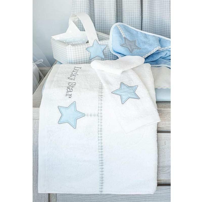 f6ba4af0276 Βρεφική Κάπα Μπουρνουζάκι Baby Oliver Lucky Star Blue Design 309 46-6730/309