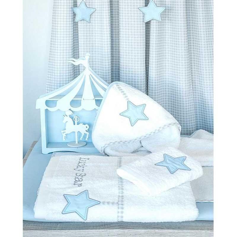 Βρεφικό Κάλυμμα Αλλαξιέρας με σελτεδάκι Baby Oliver Lucky Star Blue Design 309 46-6717/309