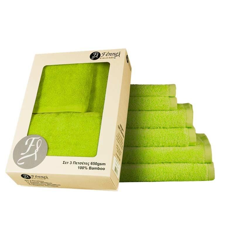 Σετ Πετσέτες 3 τμχ Bamboo Fennel TWBA-SET3-MA