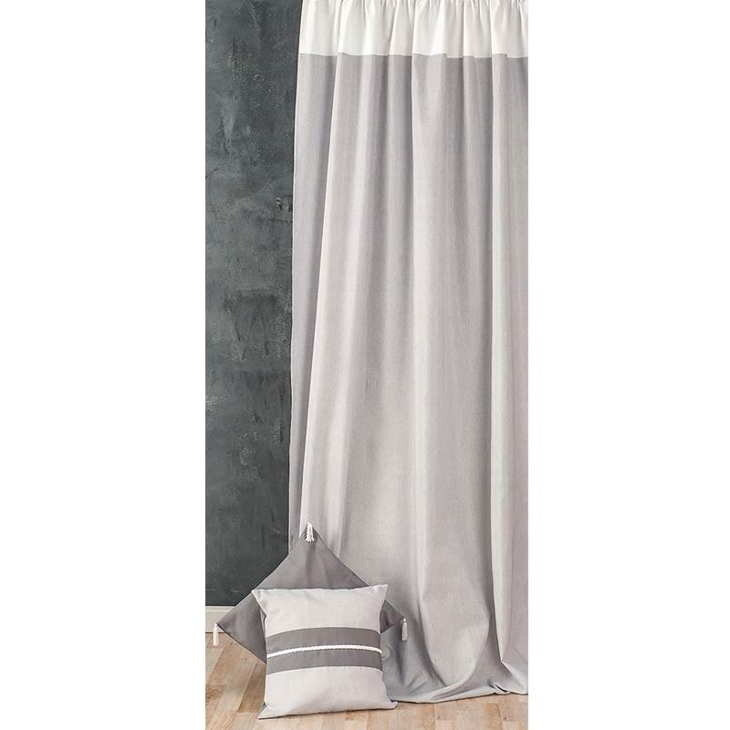 Κουρτίνα με τρέσσα (145x270) Omega Home Curtains Collection Design 12473/135