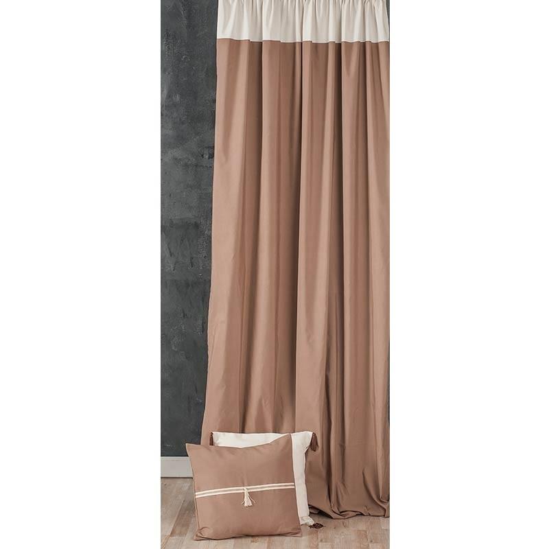 Κουρτίνα με τρέσσα (145x270) Omega Home Curtains Collection Design 12473/136