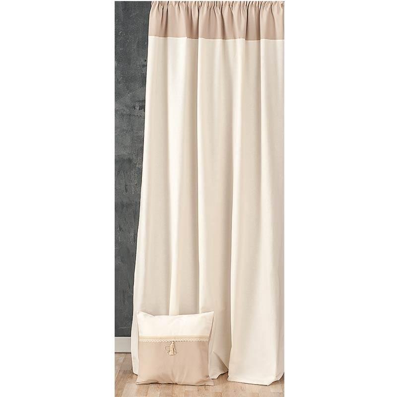 Κουρτίνα με τρέσσα (145x270) Omega Home Curtains Collection Design 12473/137