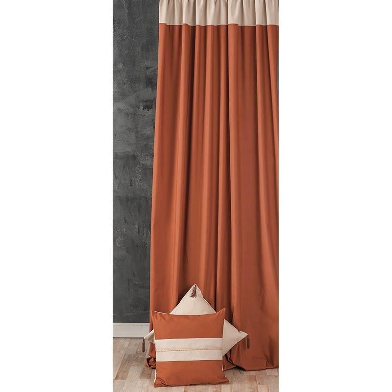 Κουρτίνα με τρέσσα (145x270) Omega Home Curtains Collection Design 12473/138