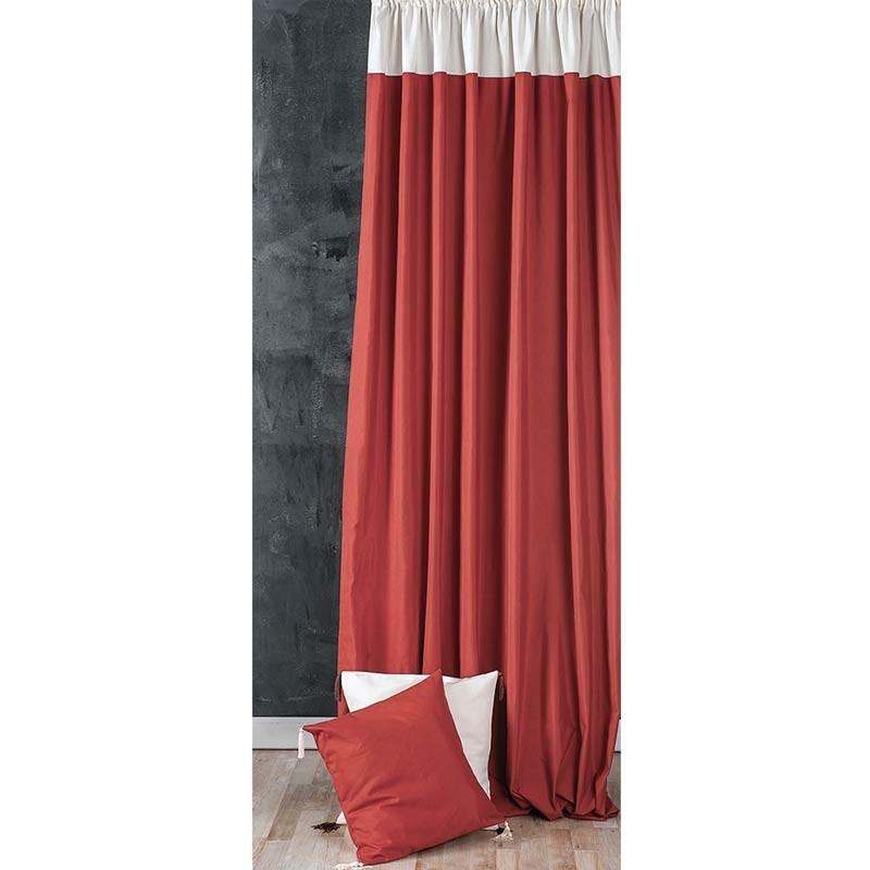 Κουρτίνα με τρέσσα (145x270) Omega Home Curtains Collection Design 12473/139