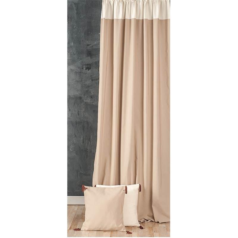 Κουρτίνα με τρέσσα (145x270) Omega Home Curtains Collection Design 12473/140