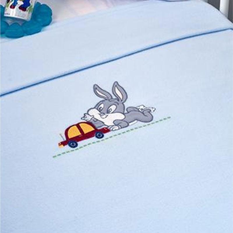 Κουβέρτα Κούνιας Fleece Omega Home Looney Tunes Design 36-1724/31