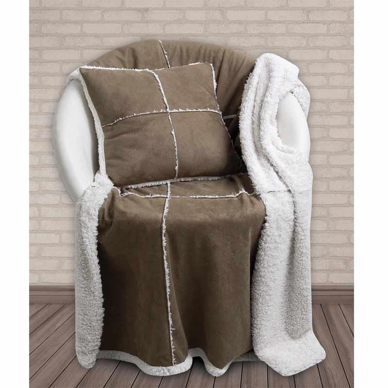 Κουβέρτα Patchwork Αγκαλιάς Και Μαξιλάρι Das Home Blanket Line Sofa Blankets 327
