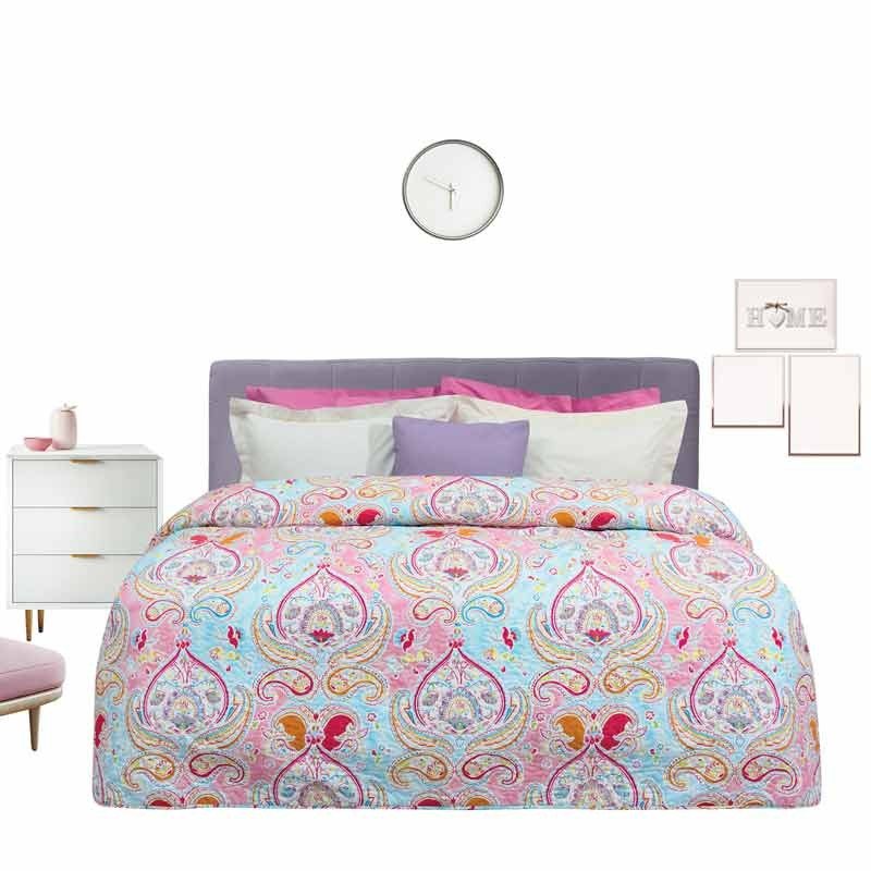 Κουβερλί Υπέρδιπλο Das Home Happy Line Microfibre Prints 9382