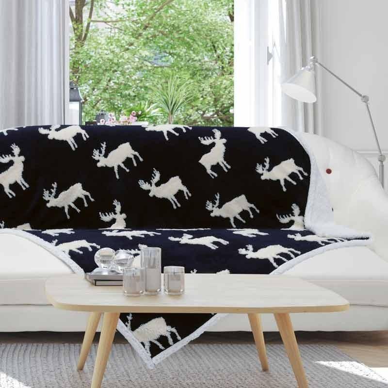 Χριστουγεννιάτικη Κουβέρτα Καναπέ Fleece Das Home Christmas Blanket Line Code 0408