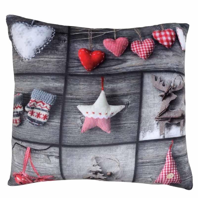 Χριστουγεννιάτικο Μαξιλάρι Διακοσμητικό Das Home Christmas Collection Code 0411