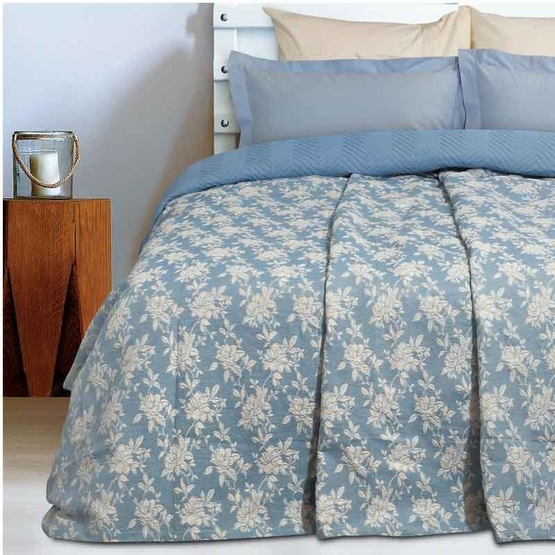 Κουβέρτα Καλοκαιρινή Υπέρδιπλη Ζακάρ Das Home Blanket Line 412