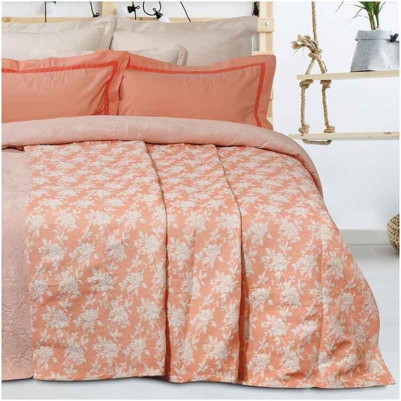 Κουβέρτα Καλοκαιρινή Υπέρδιπλη Ζακάρ Das Home Blanket Line 413