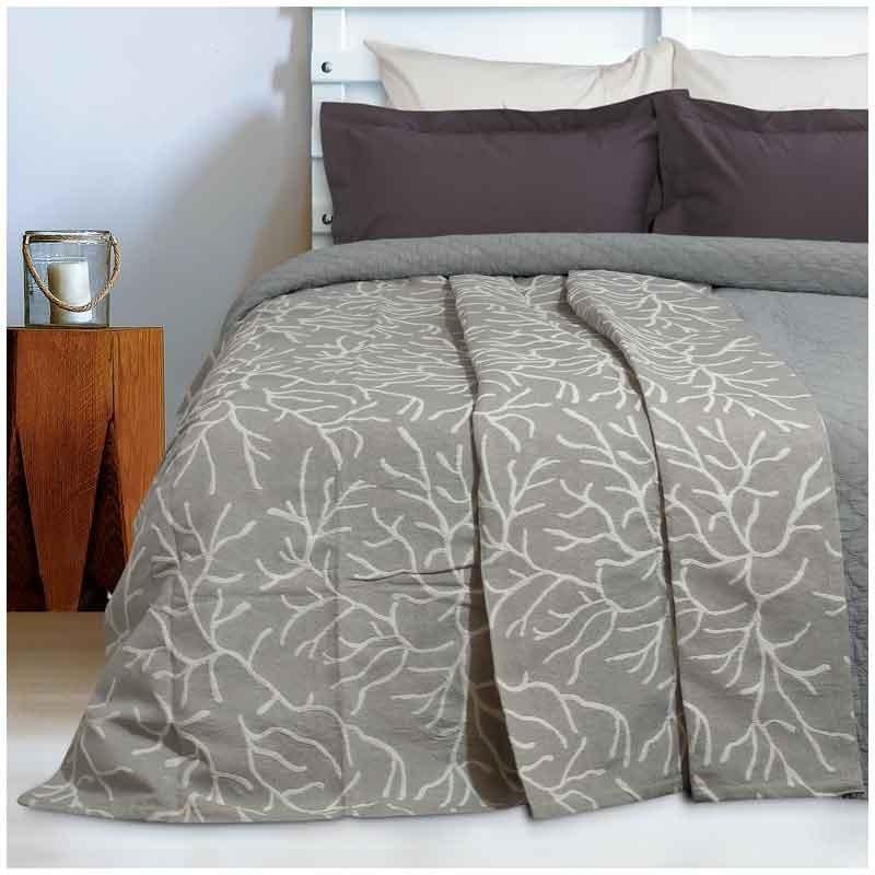 Κουβέρτα Καλοκαιρινή Υπέρδιπλη Ζακάρ Das Home Blanket Line 415