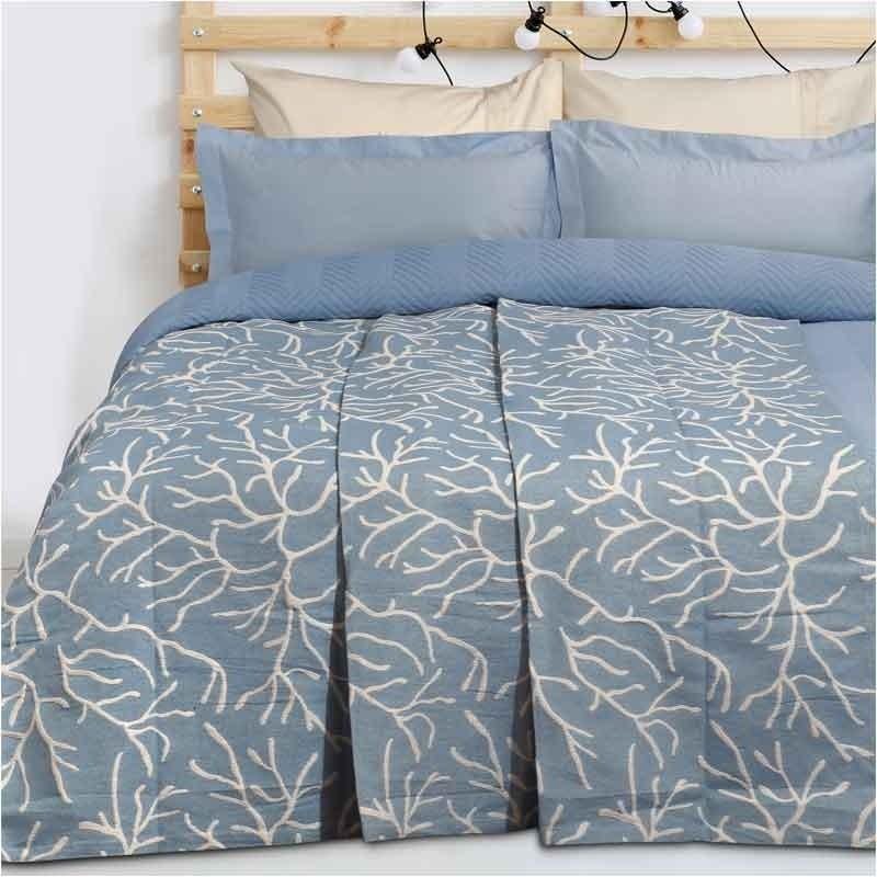 Κουβέρτα Καλοκαιρινή Υπέρδιπλη Ζακάρ Das Home Blanket Line 416