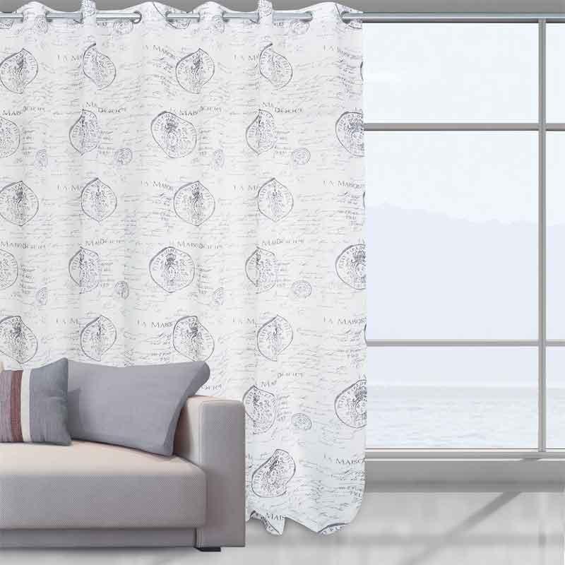 Κουρτίνα Με Κρίκους Das Home Curtain Line Prints 2030