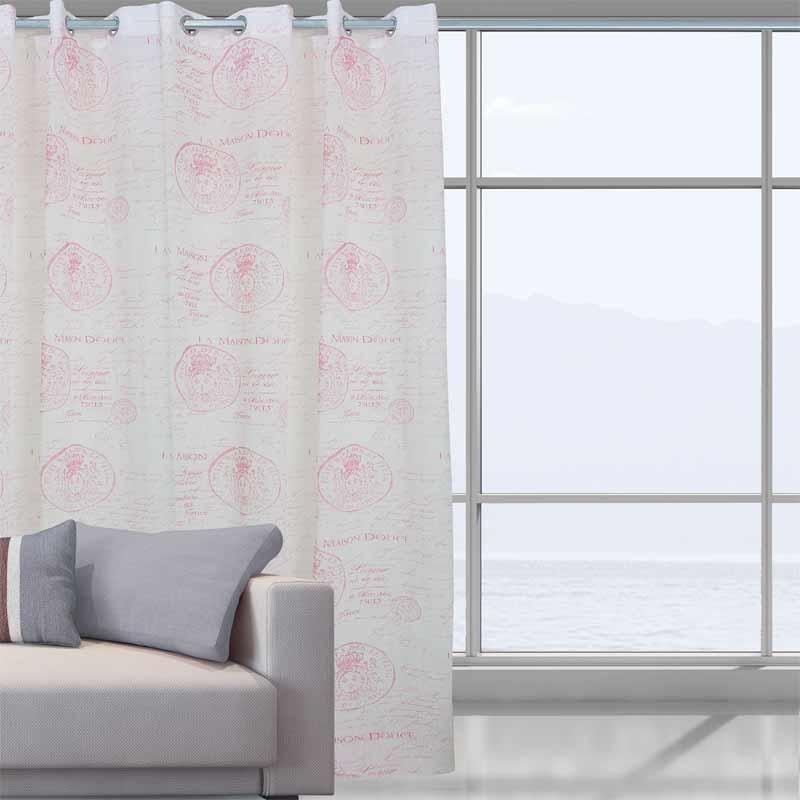 Κουρτίνα Με Κρίκους Das Home Curtain Line Prints 2031