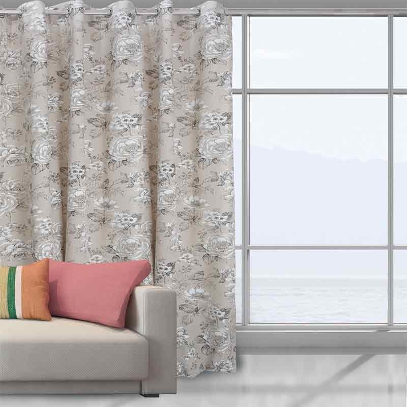 Κουρτίνα Με Κρίκους Das Home Curtain Line Prints 2032