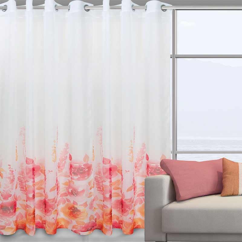 Κουρτίνα Με Κρίκους Das Home Curtain Line Prints 2034