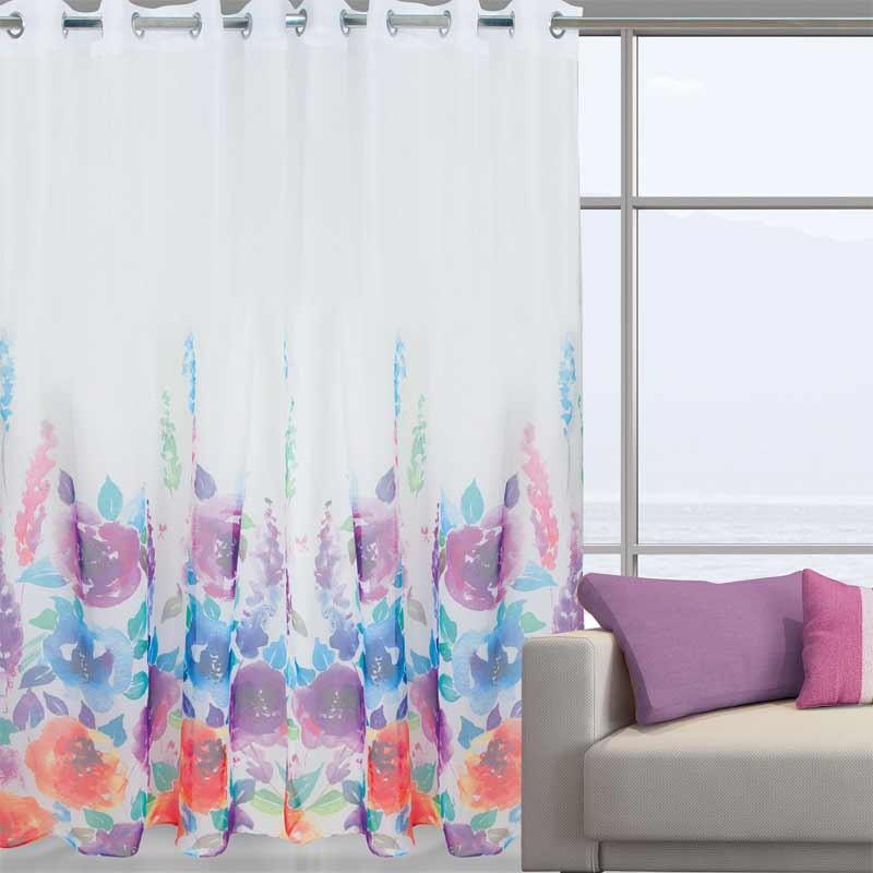 Κουρτίνα Με Κρίκους Das Home Curtain Line Prints 2035