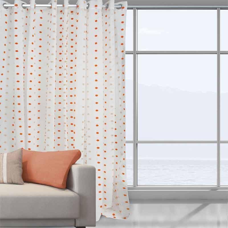 Κουρτίνα Με Κρίκους Das Home Curtain Line Pom Pom 2036