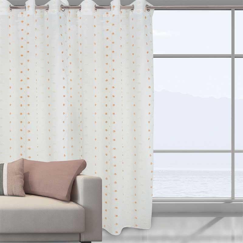 Κουρτίνα Με Κρίκους Das Home Curtain Line Pom Pom 2037