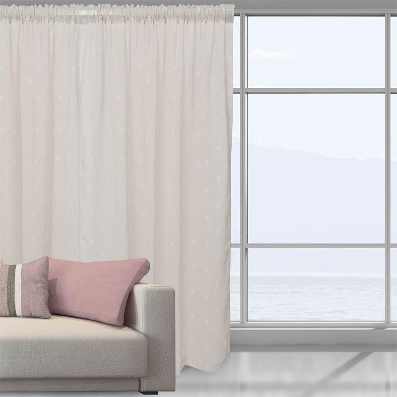 Κουρτίνα Με Τρέσα Das Home Curtain Line Jacquard 2043