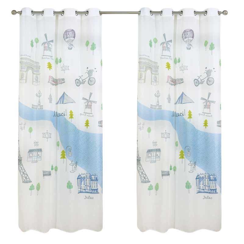 Κουρτίνα Παιδική με κρίκους (140x280) Das Home Curtain Line Prints 2020
