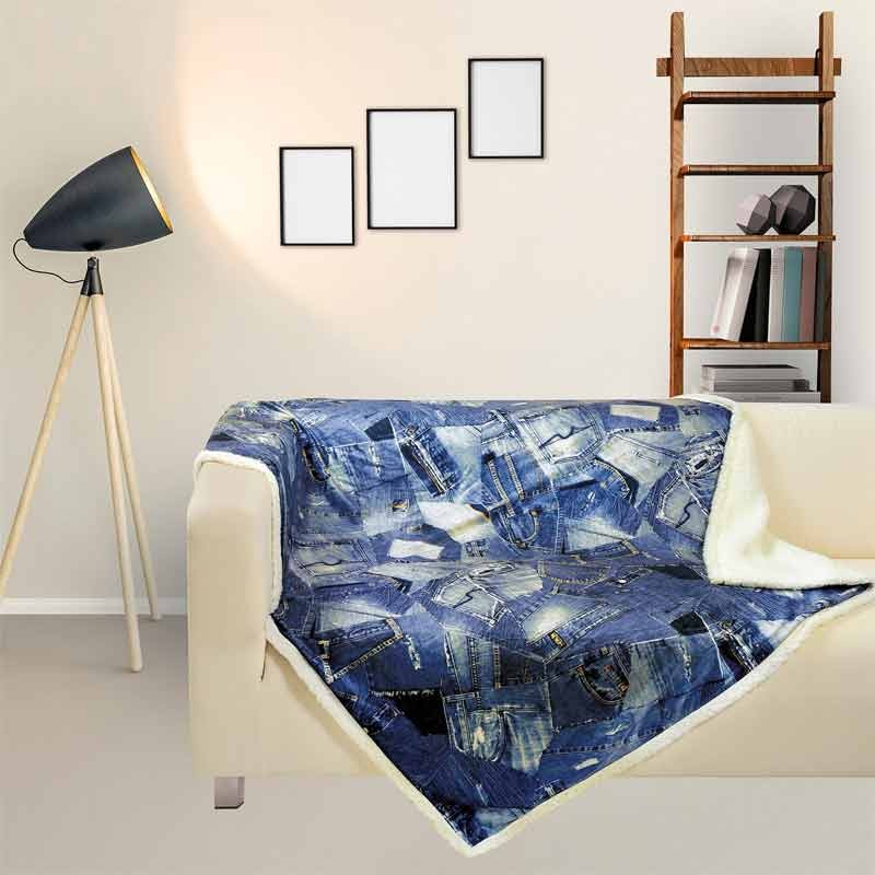 Κουβέρτα Fleece Αγκαλιάς Das Home Blanket Line Fleece Digital Printed Sofa 370
