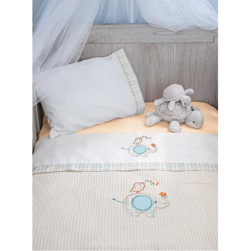 Κουβέρτα Αγκαλιάς Πικέ Baby Oliver Elephant Design 140
