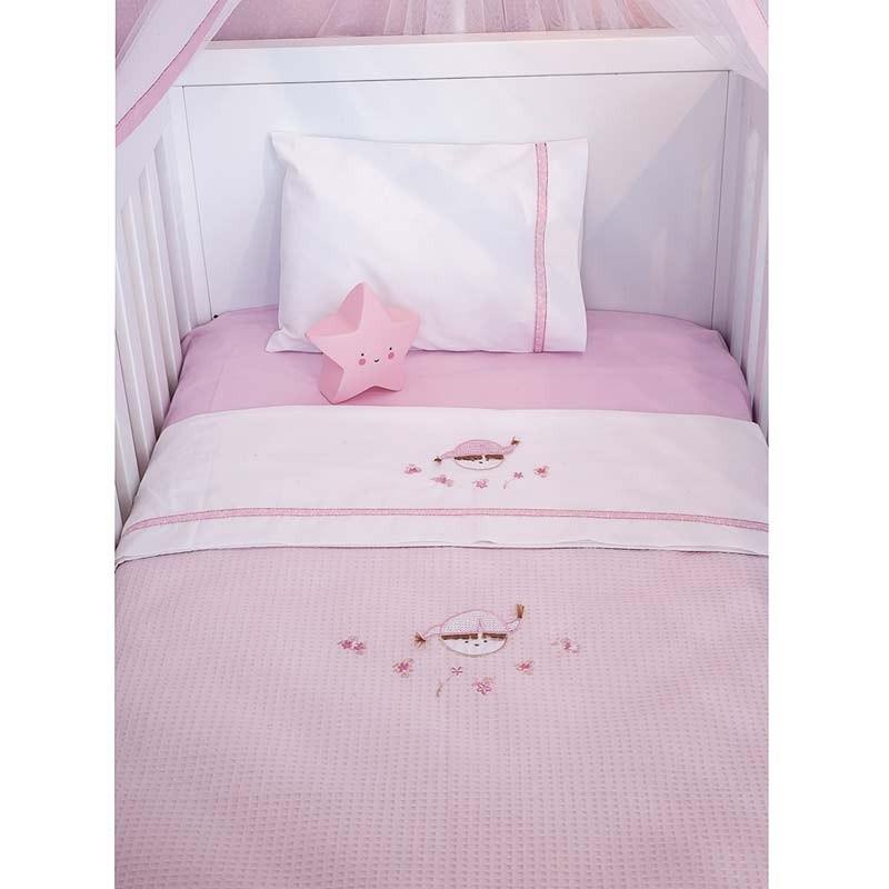 Κουβέρτα Αγκαλιάς Πικέ Baby Oliver Pink Booboo Design 142