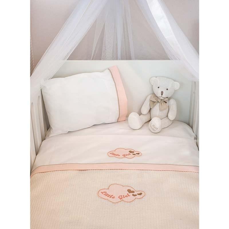 Κουβέρτα Αγκαλιάς Πικέ Baby Oliver Little Girl Design 144