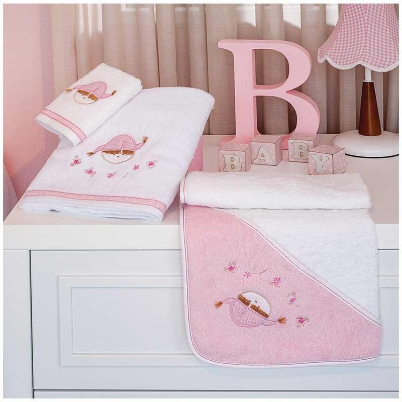 Βρεφική Κάπα Μπουρνουζάκι Baby Oliver Pink Booboo Design 142