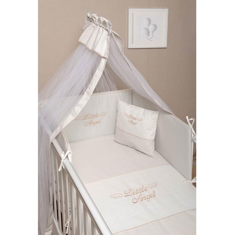 Σετ Κούνιας 3τμχ Baby Oliver Little Angel Beige Design 320 46-6700/320