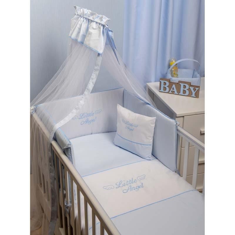 Σετ Κούνιας 3τμχ Baby Oliver Little Angel Blue Design 321 46-6700/321