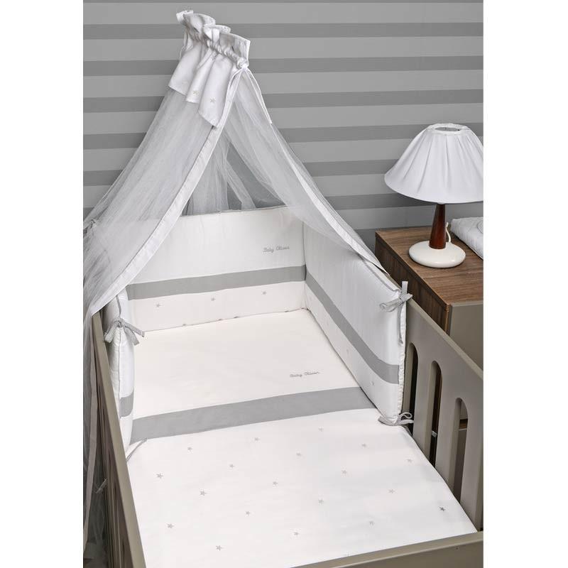 Σετ Κούνιας 3τμχ Baby Oliver Stars Grey Design 335 46-6700/335