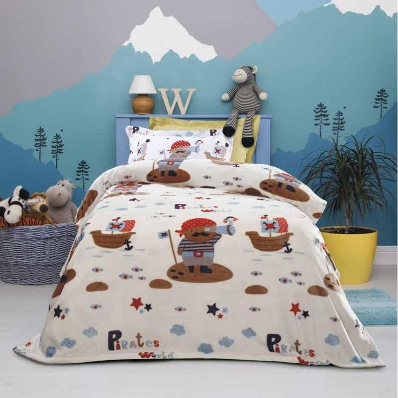 Κουβέρτα Παιδική Μονή Fleece Das Home Blanket Line Code 4653