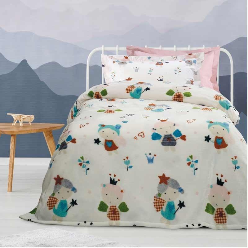Κουβέρτα Παιδική Μονή Fleece Das Home Blanket Line Code 4654