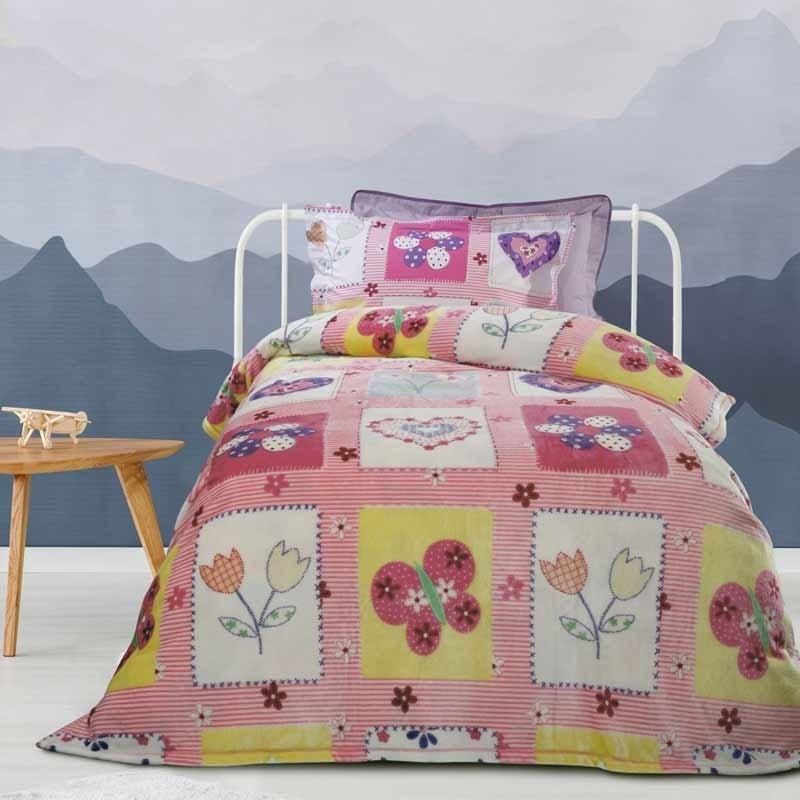 Κουβέρτα Παιδική Μονή Fleece Das Home Blanket Line Code 4658