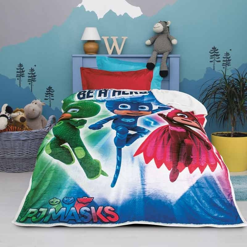 Κουβέρτα Μονή Fleece Sherpa Das Home PJ Masks 5017