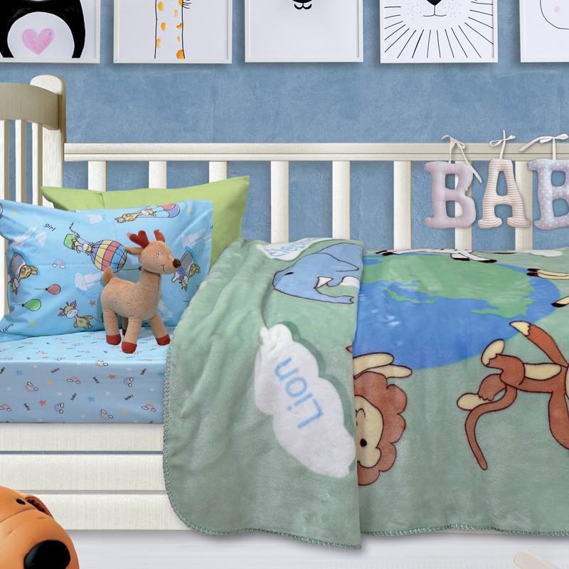 Βρεφική Κουβέρτα κούνιας βελουτε 110X140cm Das home  Relax 6427