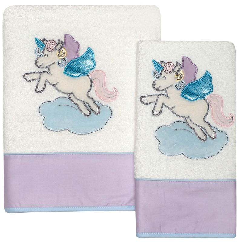 Σετ Βρεφικές Πετσέτες Κεντητές 2 τεμαχίων Das Home Baby Dream 6463